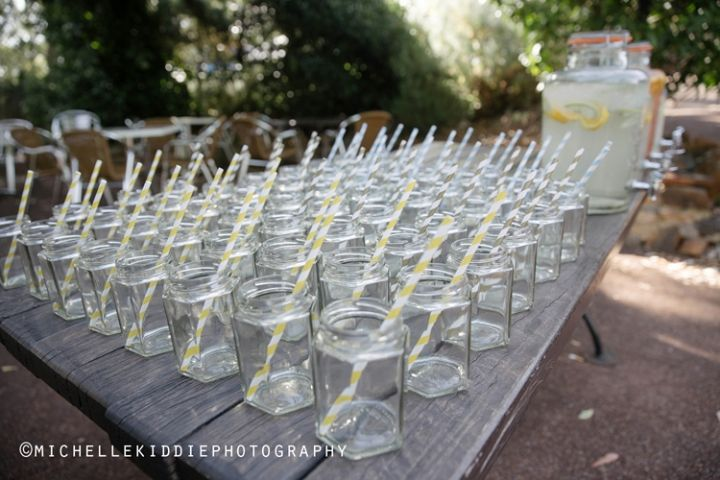 Home made lemonade to refresh guests after the ceremony. Darling Estate Winery.