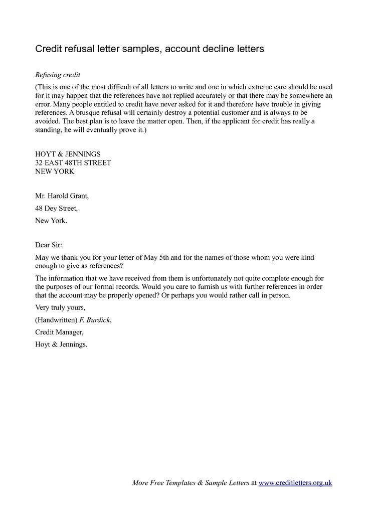 10 best Decline Letters images on Pinterest Cover letter sample - refusal letter