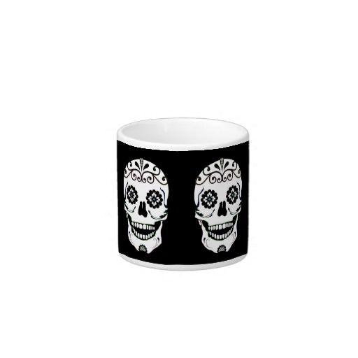 Funky skull with teal eyes espresso cup dr oz espresso cups and skulls - Funky espresso cups ...