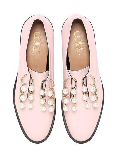 coliac scarpe derby con piercing e perle martina grasselli