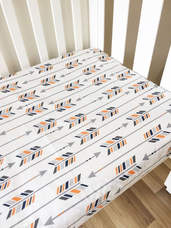 Hey, I found this really awesome Etsy listing at https://www.etsy.com/uk/listing/233465023/orange-navy-grey-arrows-fitted-cot-sheet
