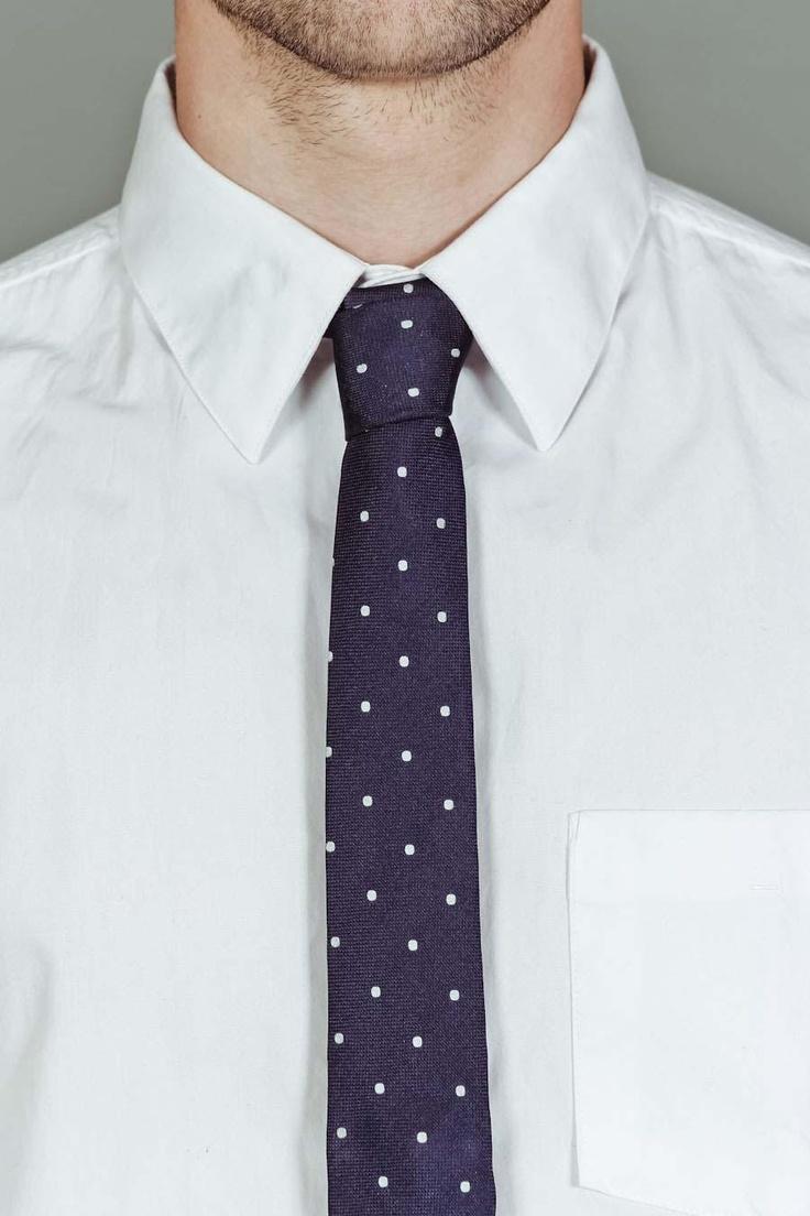 vintage style circle print skinny tie ▲ altea