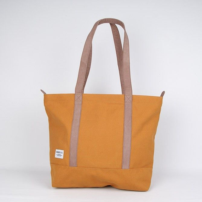 Robin / Tote zipper. rusty orange