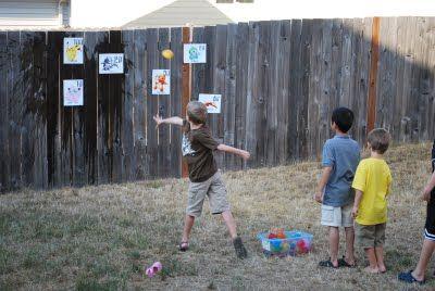 pokemon party game - throw water balloons