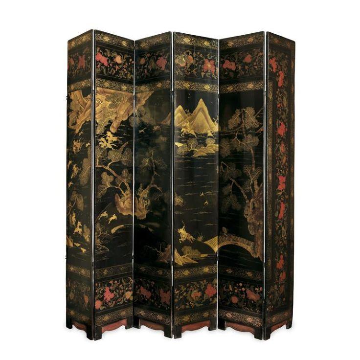 Paravent à douze feuilles, Chine , XVIIe siècle. Inv. MAD 318. Acquis à la vente Rougier, 1884. © Musée des Arts décoratifs de Lyon, Pierre Verrier