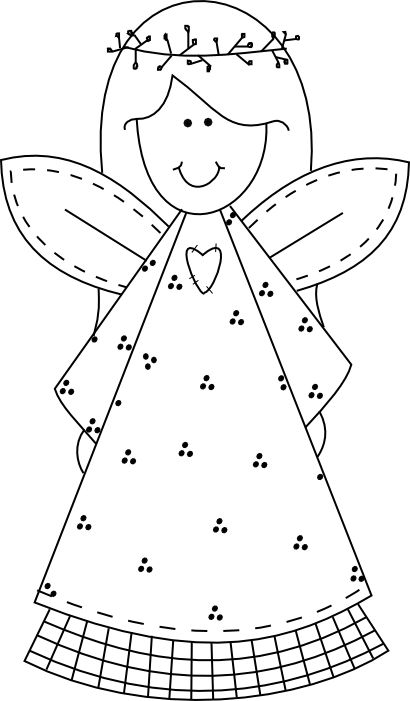 Primitive Angel Freebie - Beyond the Fringe Crafts