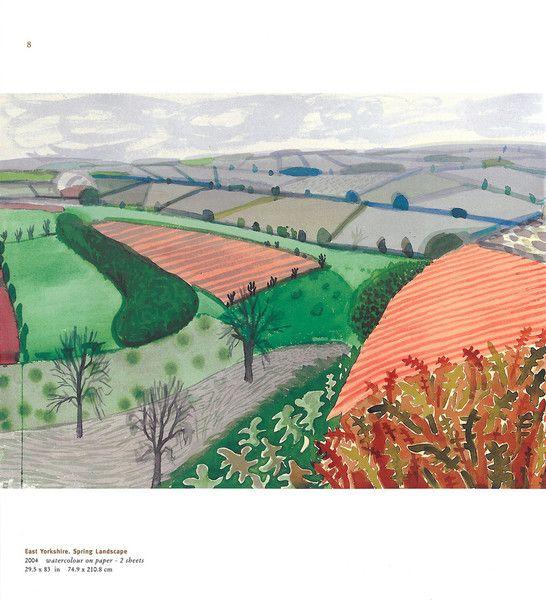 David Hockney watercolor.