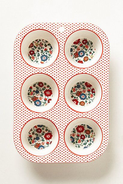 Anthropologie | Filomena Baking Collection - Muffin Pan | $36.00 | Buy online only - Anthropologie is based overseas and charges for postage