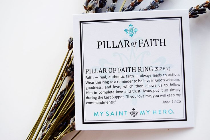 """Faith – real authentic faith – always leads to action. Wear this ring as a reminder to believe in God's wisdom, goodness and love, which then allows us to follow Him in complete love and trust. Jesus put it so simply during His Last Supper, """"If you love me, you will keep my commandments."""" // John 14:15"""