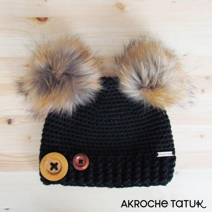 Tuque 2 pompon ourson koala  Crochet pattern  Patron au crochet