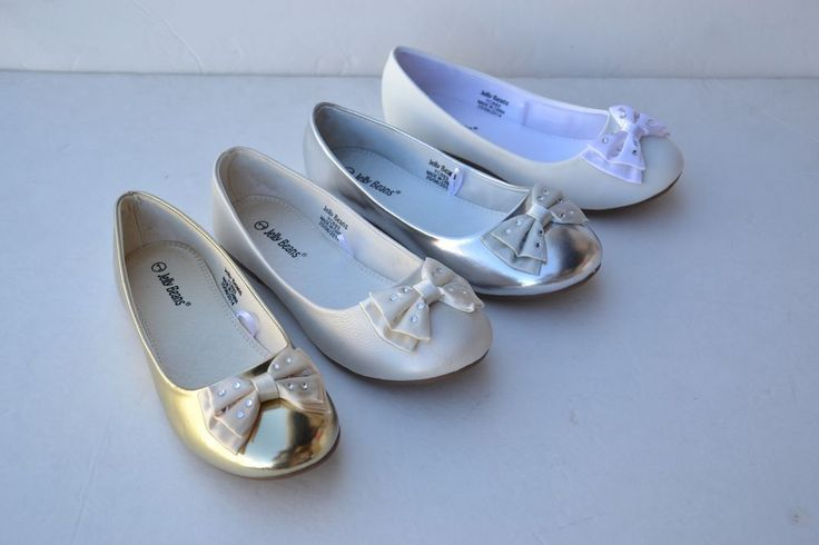 JB-TI Kids Girls Bows Rhinestone Ballet Flats Comfort Dress Shoes Size 9~4 in Clothing, Shoes & Accessories | eBay