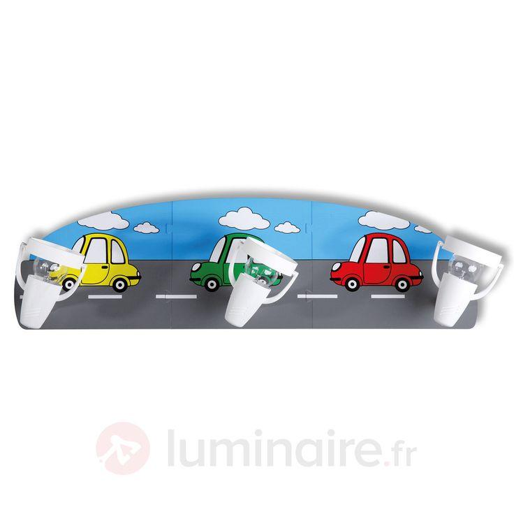 Applique 3lampes pour chambre d'enfant Car, référence 8574048 - Lampes mignonnes et rigolotes pour chambre d'enfant et bébé chez Luminaire.fr !