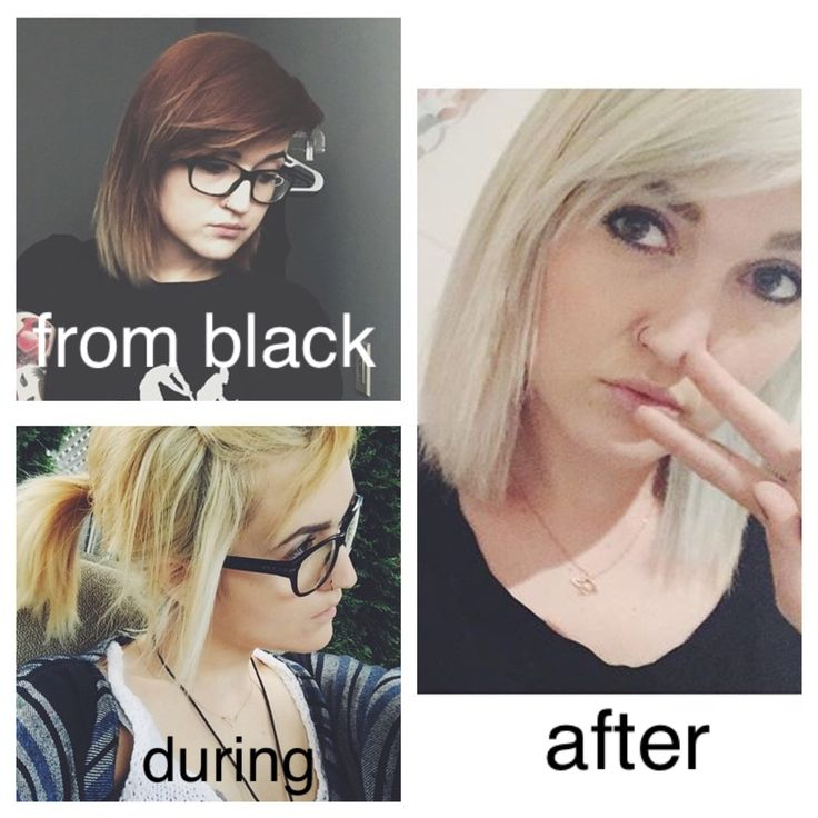 Stages from black to blonde