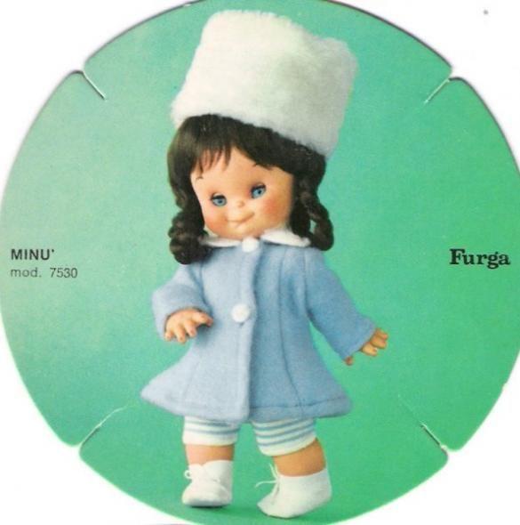 Minù Furga capelli neri catalogo dolly do 1970