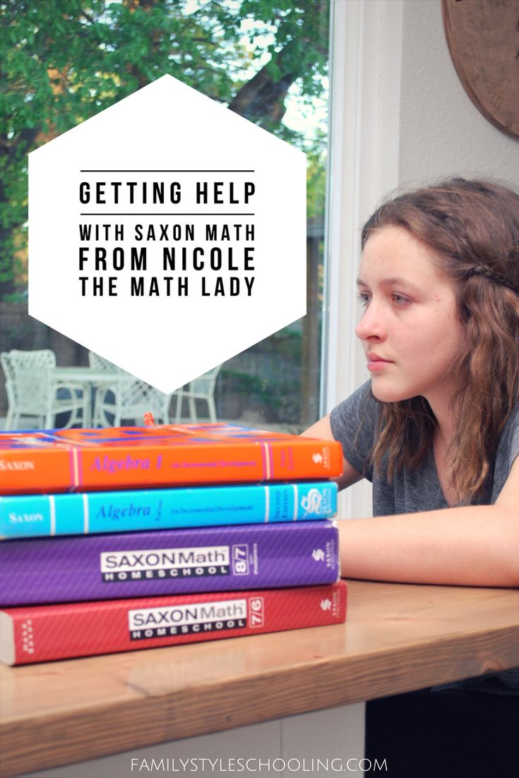 Getting Help With Saxon Math From Nicole the Math Lady | homeschool math | middle school math