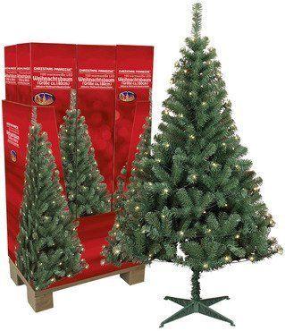 Künstlicher Weihnachtsbaum mit LED Beleuchtung 180cm hoch
