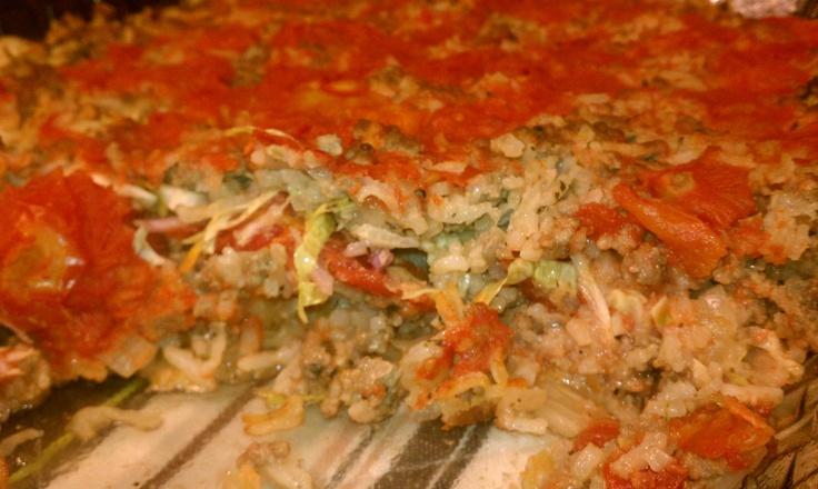 Vegetarian Cabbage Roll Casserole #cabbage #vegetarian