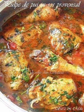 Pulpe de pui in sos provensal ~ Culorile din farfurie