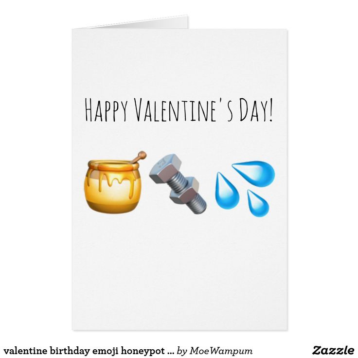 valentine birthday emoji honeypot nut bolt