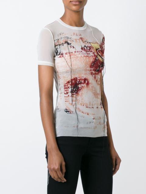 Jean Paul Gaultier Vintage sheer printed T-shirt