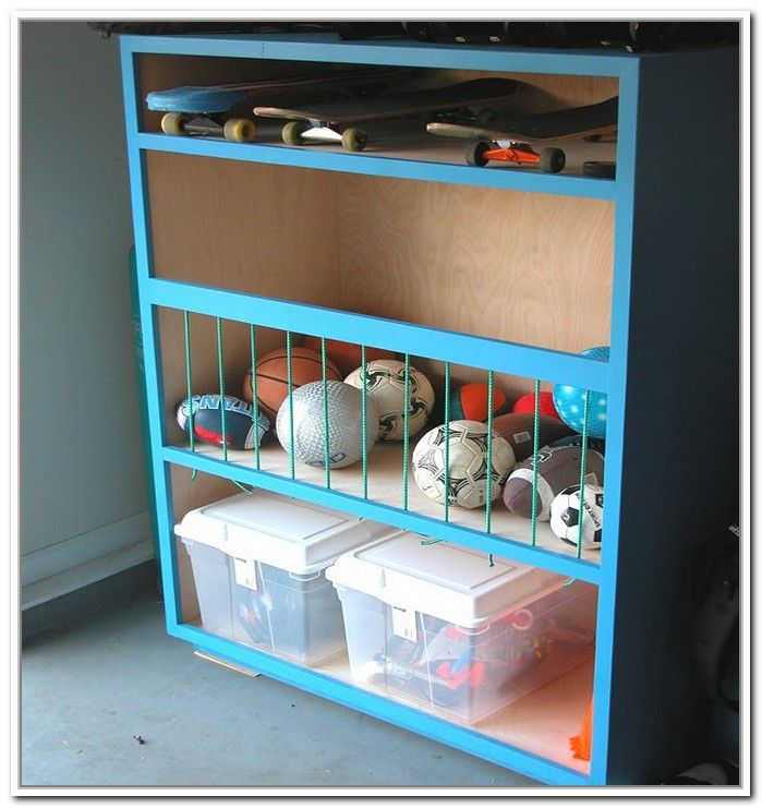 Diy Garage Ball Storage