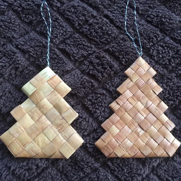 #白樺 #白樺樹皮 #もみの木 #オーナメント 3段もみの木と5段もみの木 使うテープ幅が違うので同じ位のサイズに