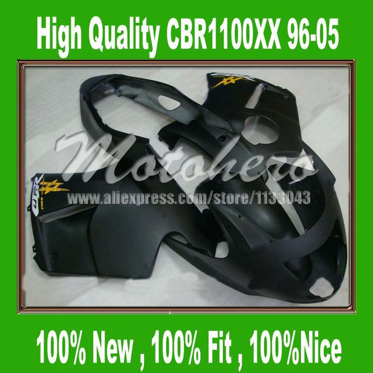Обтекателя комплект для Honda CBR1100XX 1996 2005 CBR1100 XX 96 05 CBR 1100XX 96 05 ЦБ РФ 1100 XX 96 05 обтекатели комплект матовый черный # p9ll