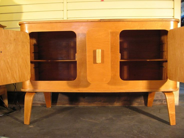 Birch Molded Plywood Buffet By Thaden Jordan
