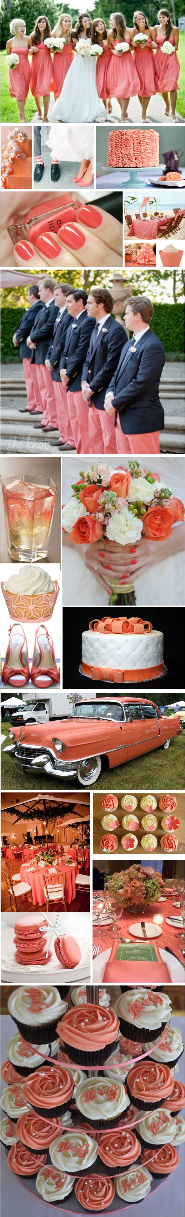 Coral wedding inspiration: Fun and Sophisticated|Random Tuesdays