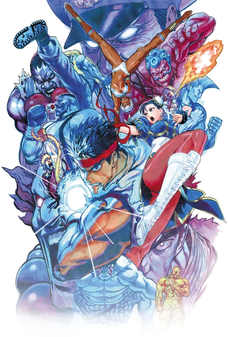 "noahberkley: ""Yusuke Murata cover art for Street Fighter: The Novel """