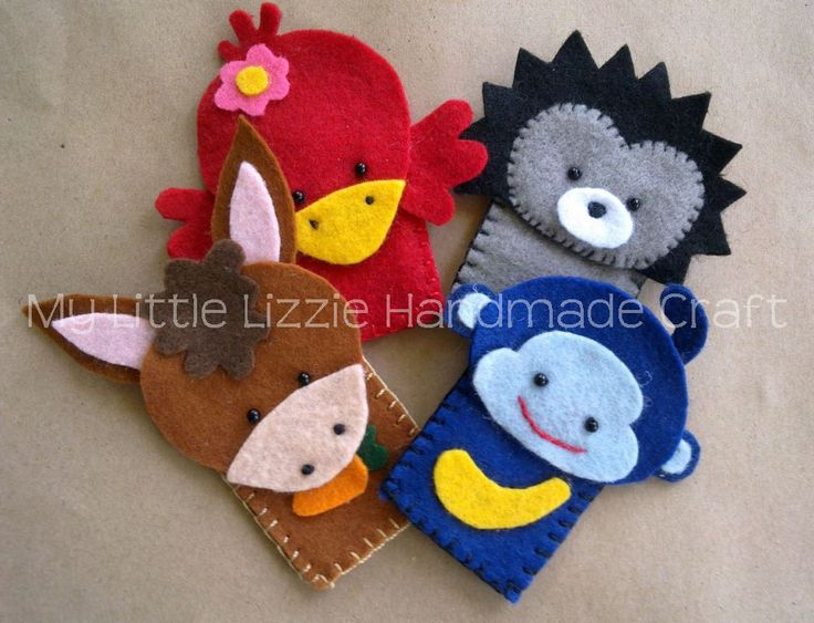 My Little Lizzie Handmade Craft - Catalogue: Finger Puppets - Zoo&Farm