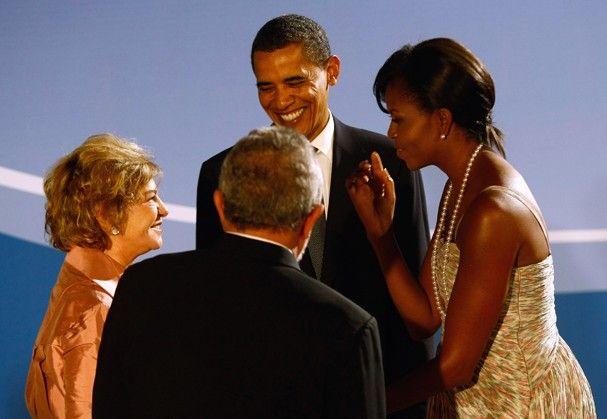 Marisa Letícia e Lula em encontro oficial com Barack e Michelle Obama  (Foto: Getty Images)