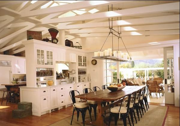 What's not to love? The Ceiling, the metal chairs, love the white and the layout . . . honey, can we move???