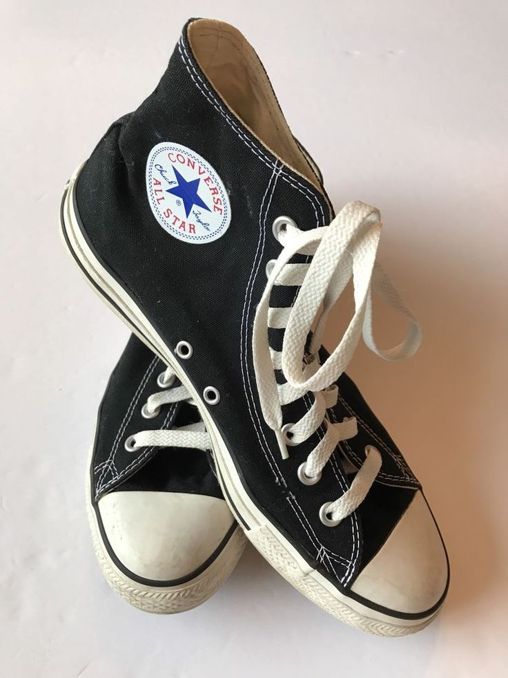 Converse All Star Chuck Taylor Men's Size 9 Black White High Top Sneakers #ConverseAlllStar #Athletic