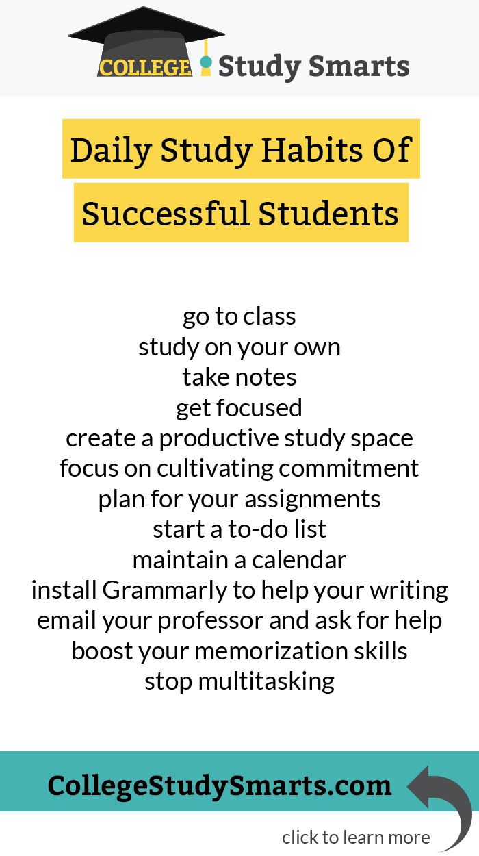 Most Important Habits Of Successful College Students College Study Smarts Study Smarter College Study College Success