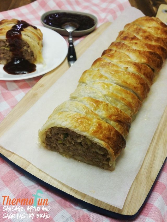 For a great alternative to the boring sausage roll, try this thermomix sausage, apple & sage pastry braid! You won't be disappointed in the flavour or the v