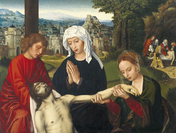 Ambrosius Benson : Pietà at the Foot of the Cross (Museo de Bellas Artes de Bilbao  (Spain - Bilbao)) 1495/1500-1550 アンブロシウス・ベンソン