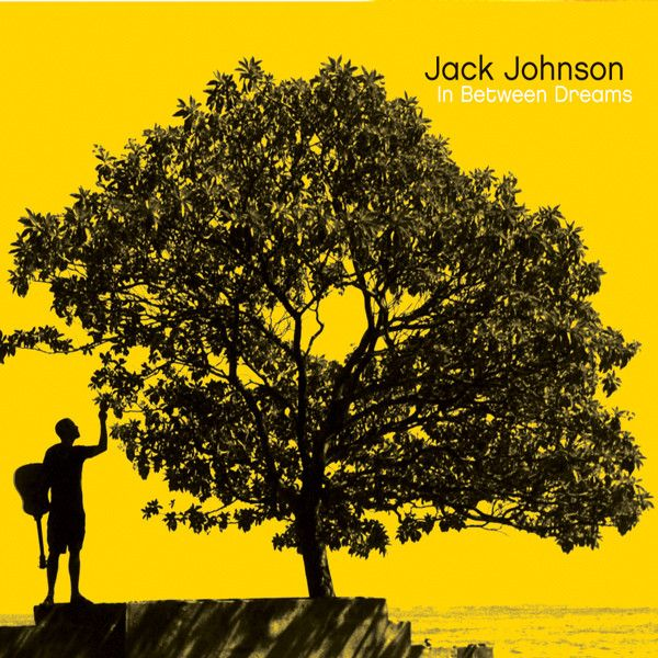 In Between Dreams- Jack Johnson He is one of those artist that you can listen to on a rainy day, or on a drive with the windows down. Listening to him will most likely make you want to be on the beach, drinking a fruity smoothie with your sunglasses and shorts on. :)