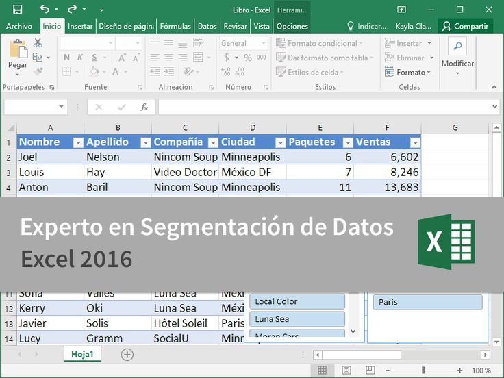 Cursos Gratis - Microsoft Excel 2016 - Experto en Segmentación de Datos en 2 Minutos.