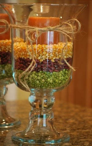 fall centerpiece for kitchen by Mel Linton