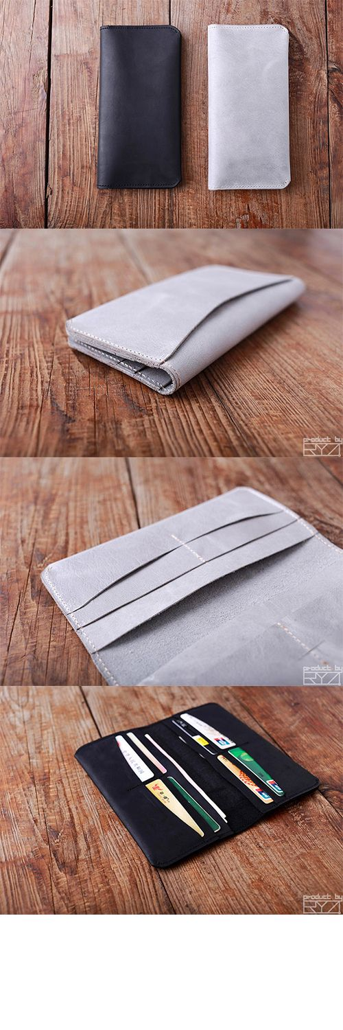 Handmade leather vintage women long wallet clutch phone purse walletgayatri sadare