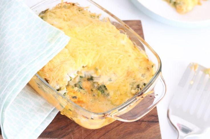 Zoete aardappel ovenschotel met vis