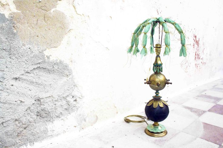 """Valeriana"" - table lamp, recicled materials"