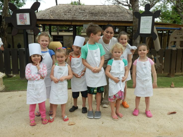 Kura Kura Kids Club at the Conrad Bali Resort has a lot of cooking activities for the kids to participate in.