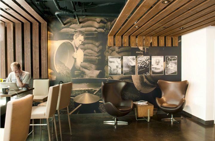 Дизайн винного бара Fonte и кофейни в США