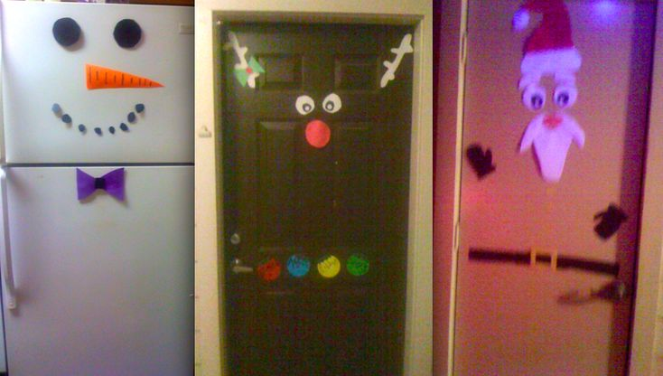 easy and fun christmas door decorations!perfect for college dorm rooms and apartments!(: