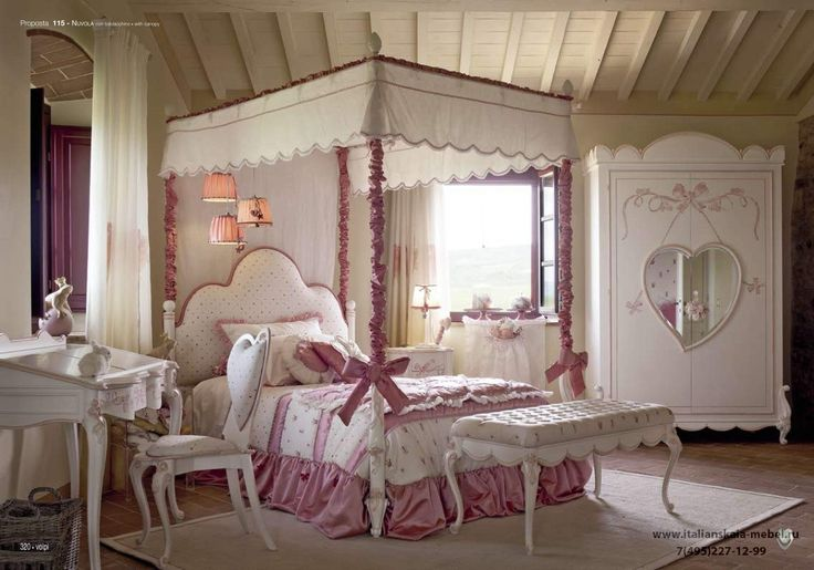 Детская кровать с балдахином  Volpi - Nuvola