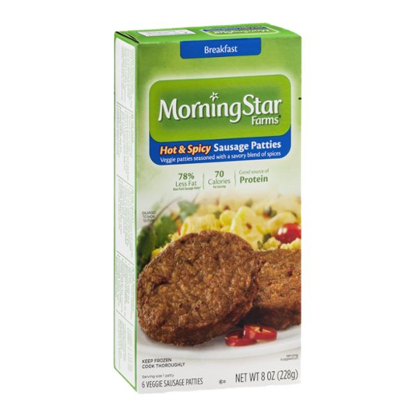 Morning Star Farms Sausage Patties Hot & Spicy - 6 CT