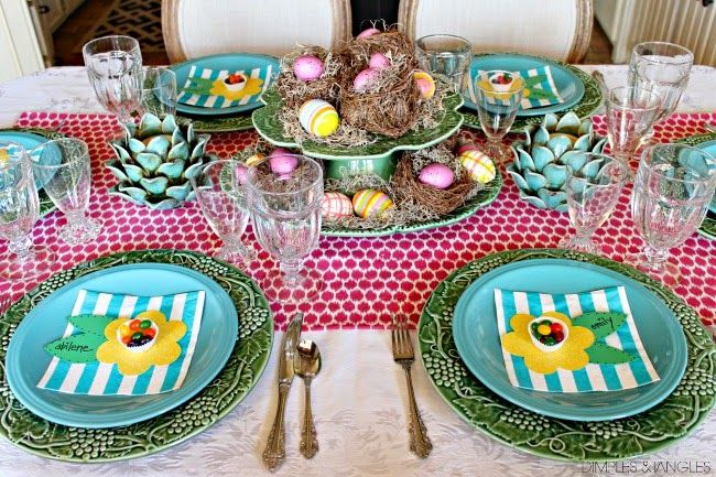 NOT ONE, BUT TWO EASTER TABLE SETTINGS!