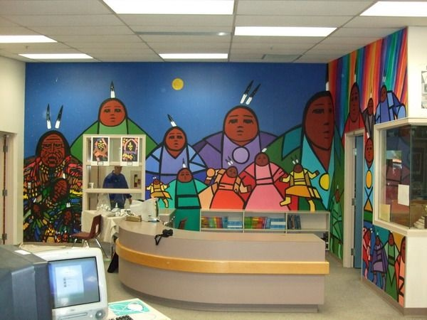1000 images about mural and school wall ideas on for Elementary school mural ideas